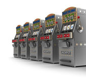 Set of slot machines — Foto Stock