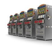 Slot makineleri kümesi — Stok fotoğraf