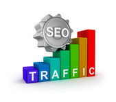 SEO concept with colorful graph. — Стоковое фото