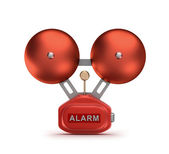 Red fire alarm bell ringer — Stock Photo