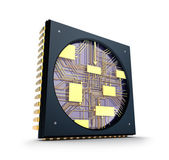 CPU. Inside the chip concept. — Stock Photo