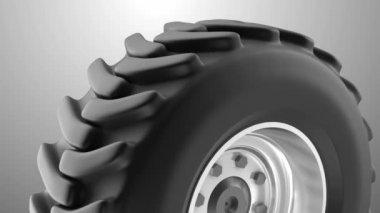Tractor heavy wheel loop — Stock Video