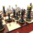 Stock Photo: Chess game board