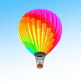 Air balloon in blue sky — Stock Photo