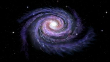 Spiral Galaxy Milky Way — Stock Video