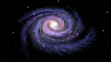 Spiral Galaxy Milky Way — Stock Video
