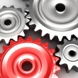 Steel gear wheels concept — Stockfoto