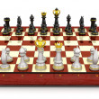Chess board set up to begin game — Stock Photo #27417829