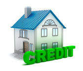 Credit for real estate, isolated 3D concept — Stock Photo