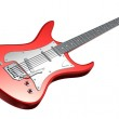 Electric Guitar . 3D image. My own design — Stock Photo