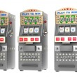 Set of slot machines — Stockfoto