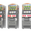 Set of slot machines — Stock Photo