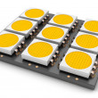 LED panel, close-up — Stock Photo
