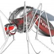 Mosquito. Robot bloodsucker. Isolated on white. — Stock Photo #35601327