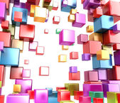 Abstract boxes .Background — Stock Photo