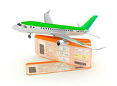 Airplane boarding pass tickets concept — Stock Photo