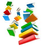 Flying Books . Isolated on white — Stock Photo