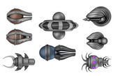 Space invaders ,isolated on white — Stock Photo