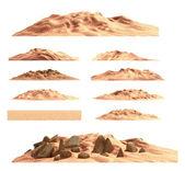 Desert mountain set , isolated — Stock Photo