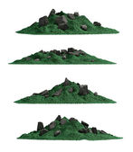 Tropical mountain set , isolated — Stock Photo
