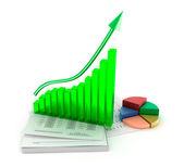 Business graph analysis — Stock Photo
