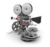 Vintage movie camera and film — Stock Photo