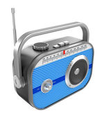 Retro radio over white — Stock Photo