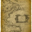 Old Map Of The Caribbean And The Eastern Coast Of USA — Стоковое фото #8122080