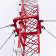 Telecommunication tower used to transmit television and 3g signa — Stock Photo #33418019
