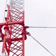 Telecommunication tower used to transmit television and 3g signa — Stock Photo #33418973