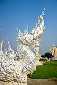 Art architecture of Wat rong khun temple in thailand, asia — Stockfoto