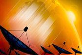 Dados de transmissão via satélite prato — Foto Stock