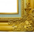 Gold frame on the white background — Stock Photo #34042743