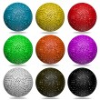 3d color ball set isolated on white background  — Stock Photo