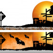 Halloween day Design on background white — Stock Photo