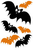 Halloween concept design with black and orange bat — Stock Photo