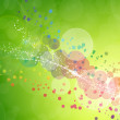 Abstract on a colorful background digital bokeh effect — Stock Photo #34719899