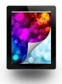 Tablet pc, aislado en blanco de fondo — Foto de Stock