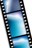 Black film sheet on background white — Stock Photo