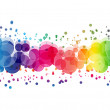 Abstract on a colorful background digital bokeh effect — Stock Photo #35346815