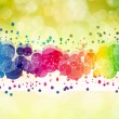 Abstract on a colorful background digital bokeh effect — Stock Photo