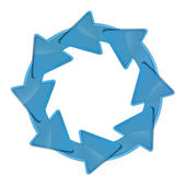 Recycle symbol blue — Stockfoto