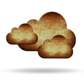 Sky and clouds on background retro brown — Stock Photo