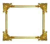 在白色背景上的金色框 — 图库照片