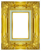 Gold frame on the white background — Stock Photo