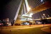 Cable-stayed bridge sao paulo Brazil — Stock Photo