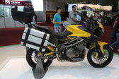 Benelli motorcycle Amazons — Stock Photo