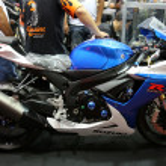 Постер, плакат: Motorcycle suzuki GSX Blue