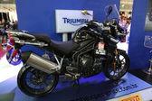 Motorcycle triumph explorer — Stock Photo