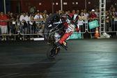 摩托车越野赛的夜晚 — 图库照片